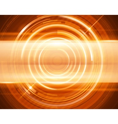 Abstract 3d digital circles light background vector