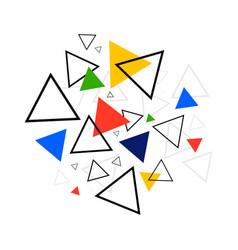 Abstract geometric shape background modern retro vector