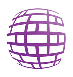 abstract globe symbol isolated icon internet and vector image