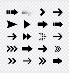 arrows big black set icons arrow icon arrow vector image