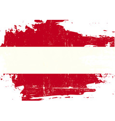 austrian scratched flag vector image
