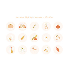 autumn highlight covers collection trendi vector image