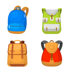 back to school kids backpack vector image