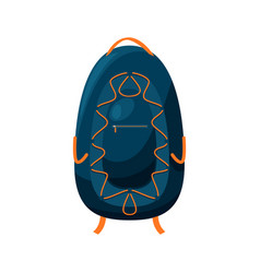 backpack trekking camp pack isolated travel bag vector image