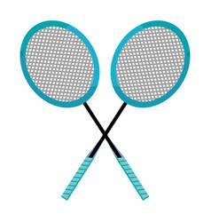 Badminton racket design vector
