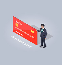 bank payment card and businessman vector image