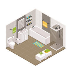 Bathroom interior isometric vector