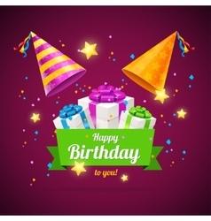 Birthday Card Flyer or Placard vector image