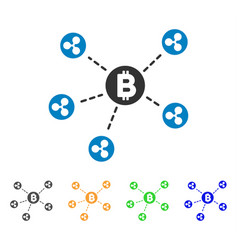 bitcoin ripple network icon vector image