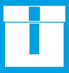 box icon white vector image