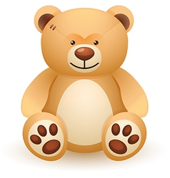 Brown bear toy vector image