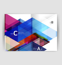 Business brochure or leaflet a4 cover template vector
