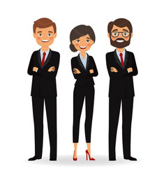 Business people in business suits vector