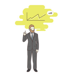 businessman or manager recounts the income vector image