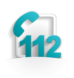 call 112 icon vector image