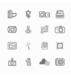 Camera icon photo vector