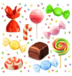 Candy set icons vector