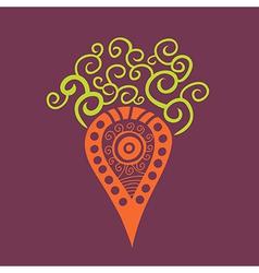 Cartoon carrot element for your design vector