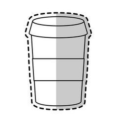 Coffee disposable cup icon image vector