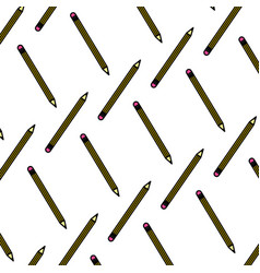 color wood pencil object school background vector image