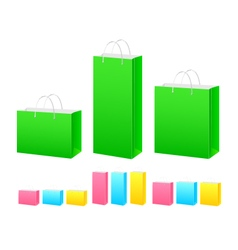 Colored paper bags vector