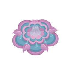 Colorful water fountain with floral elements in vector