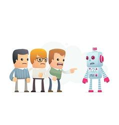 Community accuses robot vector