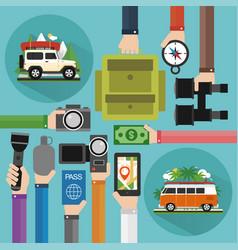 concept modern travel flat design summer holiday vector image