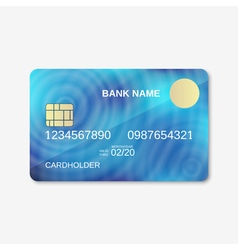 Credit card design template vector image