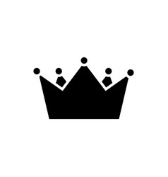 crown kings icon black sig vector image
