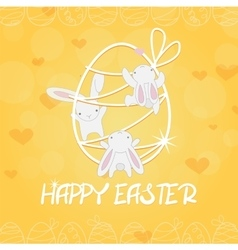 cute funny festive bunny vector image