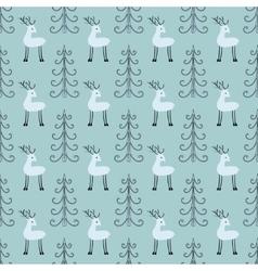 Deer forest seamless pattern vector