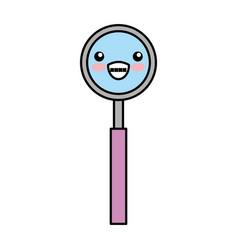 dentistry mirror kawaii character vector image