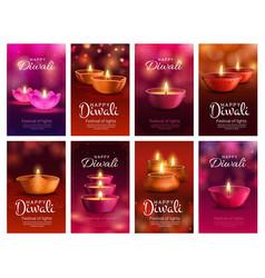 diwali deepavali diya lamp indian light festival vector image