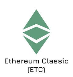 ethereum classic etc crypt vector image
