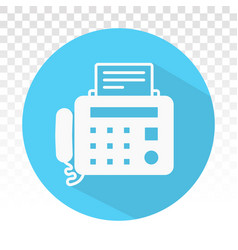 Fax machine flat icons for apps and websites vector