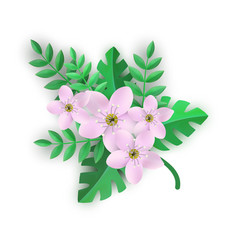 Floral composition - branch vector
