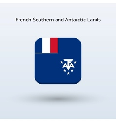 French Southern and Antarctic Lands flag icon vector