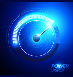 fuel power speedometer pushing to limit vector image