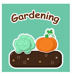gardening with vegetables vector image