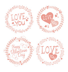 garland for valentines day vector image