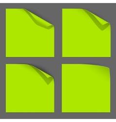 Green Paper Curled Corner vector image