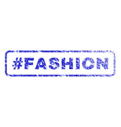 hashtag fashion rubber stamp vector image