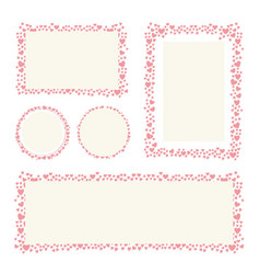 hearts frame for your valentines day greeting vector image