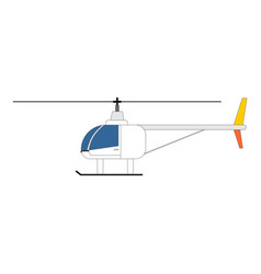 helicopter icon side view design vector image
