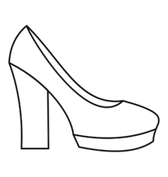 High heel shoes icon outline style vector image