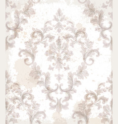 imperial baroque pattern background vector image