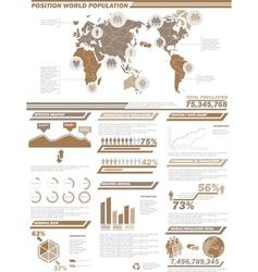 INFOGRAPHIC DEMOGRAPHICS POPULATION 2BROWN vector image
