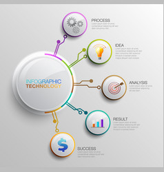 infographic technology03 vector image