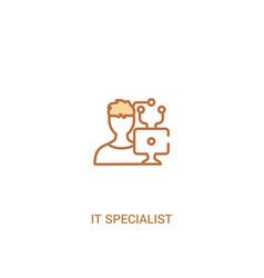 It specialist concept 2 colored icon simple line vector